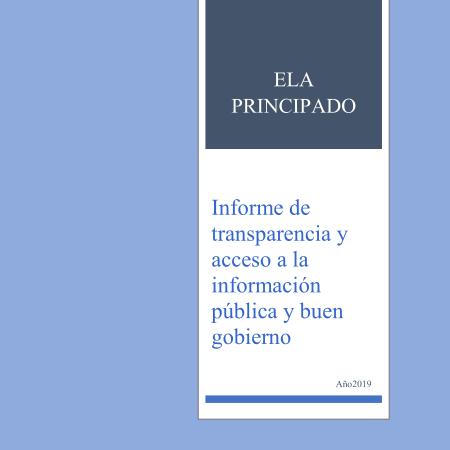 Portada informe de transparencia 2019