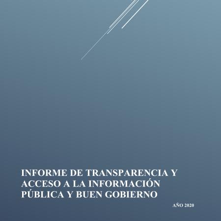 Portada informe de transparencia 2020